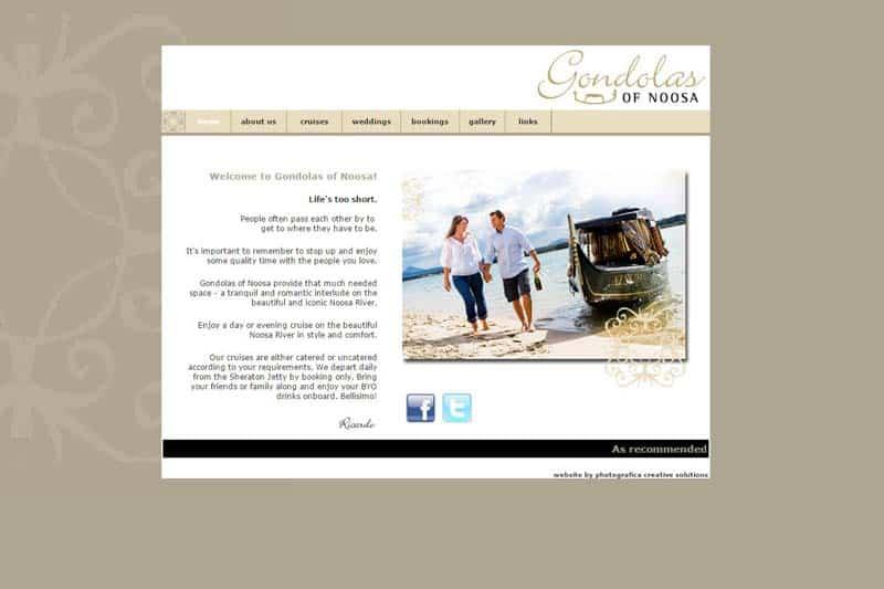 Gondolas of Noosa web site